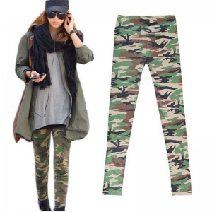Women Camouflage Army Military Print Skinny Leggings Cool Comfortable Trousers Women Thumbnail