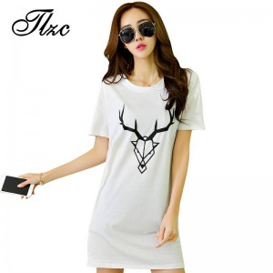 Women Casual Cotton T Shirts Fasion O Neck Printed Plus Large Size Short Sleeve Ladies Summer Tops Tees Thumbnail