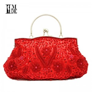 Women Clutch Bags Evening Exquisite Ladies Embroidered Wedding Party Bridal Handbags Wristlet For Ladies Thumbnail