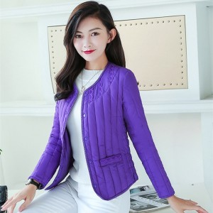 Women Jacket Coat For Spring Autumn Winter Slim Short Warm Liner Lace Casual Single Breasted Outerwear Thermal Tops