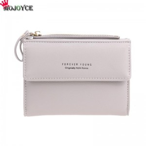 Women Mini Wallets Female Short Money Wallets PU Leather Lady Zipper Coin Purses Fashion Card Holders