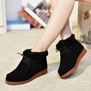Womens Boots New Platform Shoes Woman Lace Up Ankle Boots Fashion Casual Autumn Winter Womens Shoes