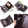 2019 Genuine Leather Mens wallet vintage brand Big lattice purse with coin bag for male cow leather zipper card holder Extra Image 5