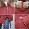 2019 Warm Winter Jacket Women With Colorful Fur Hooded Womens Jackets Winter Outwear Long Female Coat Parka Slim Extra Image 6