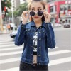 Autumn All Match Short Denim Jacket Women Vintage Casual Single Breasted Jeans Coat Two Pockets Decorated Outwear Extra Image 3