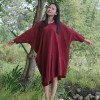 Autumn New Womens Dress Original Bat Sleeve Cotton Linen Dress Loose O Neck Casual Vintage Red White Dresses Extra Image 4