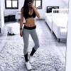 Autumn Spring High Waist Elastic Womens Leggings Solid Fitness Women Leggins Hot Pants Workout Trousers For Women Extra Image 5
