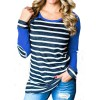 Autumn T Shirts Women Fashion Striped Patchwork Baseball Shirt Casual Long Sleeve Splice Camisetas Mujer Plus Size Extra Image 3