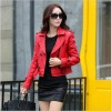 Autumn Winter Women Long Leather Jacket Slim Plus Size Bow Belt Motorcycle PU Leather Long Jacket Coat Leather Trench Extra Image 5