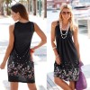 Bodycon Summer Dresses Boho T Shirt Floral Design Sleeveless Tank Dress Mini Dress High Waist Beach Sarong Tunic Extra Image 4