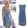 Bodycon Summer Dresses Boho T Shirt Floral Design Sleeveless Tank Dress Mini Dress High Waist Beach Sarong Tunic Extra Image 5