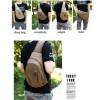 Casual Chest Bag Men Canvas Small Crossbody Bag Luxury Quality Travel Pack Single Shoulder Bags Military Messenger Bag Extra Image 2