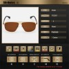 Classic Polarized Sunglasses For Men Driving Polaroid Alloy Frame Adult Eyewear Fully Customized Sun Shades Extra Image 5