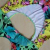 Cut Out One Piece Swimsuit Leaf Flower Printed Swimming Suits Sexy Beach Summer Bikini For Women Extra Image 4
