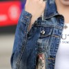 European Fashion New Autumn Denim Jacket Women Patch Designs Long Sleeve Casual Slim Jeans Jackets Streetwear Casacos Extra Image 5