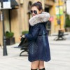 Fashion Casual Big Faux Fur Hooded Thick Warm Outwear New Winter Coat Denim Jackets Women Long Cotton Padded Jeans Extra Image 3