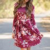 Floral Printed Summer Dress For Women Long Sleeve Boho Dress Round Neck Cute Shift Dress Summer Style Outfits Extra Image 1