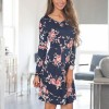 Floral Printed Summer Dress For Women Long Sleeve Boho Dress Round Neck Cute Shift Dress Summer Style Outfits Extra Image 4