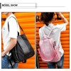 Fresh Multifunction Women Backpack Fashion Ladies Solid Shoulder Bag Rucksack Schoolbags Female Travel Handbags Extra Image 5