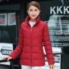 Fur collar winter jacket women autumn cotton padded solid color womens parka with hood high quality female coat 2019 Extra Image 3