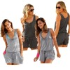 Gray Sleeveless Rompers Jumpsuits Summer Clothing For Women Vintage Jumpsuits Pants Off Shoulder Dress Extra Image 1