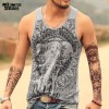 Grey Men Tank Top Casual Fitness Singlets Brand Mens T Shirt Sleeveless Gasp Hip Hop Vest Elephant Print Cotton Extra Image 1