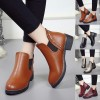 Hot style Fashion Women Rivets Flat boots Round head thick bottom PU leather woman Top Quality Martin boots Extra Image 5