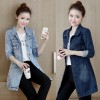 Korean Style Hot New Casual Denim Jacket Fashion Slim Women Coat Windbreaker Long Sleeve Autumn Jacket Clothing
