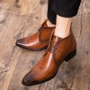 Men Boots Autumn Pointed Toe Fashion Leather Boots Men Vintage Black Brown Men Shoes Genuine Quality Ankle Boots Extra Image 5