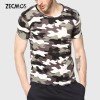 Men Camouflage T Shirt Camo Male Army Military T Shirt Casual Top Tees Men Tshirts Menswear Cool Summer Wear Extra Image 1
