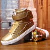 Men Shoes Golden High Top Mens Casual Shoes British Gold And Silver Winter Shoes Men Big Yards Boots Students Shoes Extra Image 3