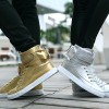 Men Shoes Golden High Top Mens Casual Shoes British Gold And Silver Winter Shoes Men Big Yards Boots Students Shoes Extra Image 4