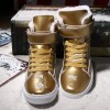Men Shoes Golden High Top Mens Casual Shoes British Gold And Silver Winter Shoes Men Big Yards Boots Students Shoes Extra Image 5