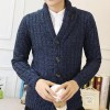 Men Stylish Sweater 2018 New V Neck Design Pure Cotton Material Single Breasted Autumn Cardigan Plus Size Extra Image 4
