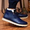 Mens Boots Winter Ankle Fashion Classic Cotton Padded Shoes Plush Warm Man Snow Boots Hot Sale Quality Leather Shoes Extra Image 3