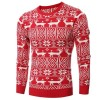 Mens Christmas Sweater Deer Printed Sweater For Men Pullovers Oversized Sweaters Knitted Cardigan For Winter Extra Image 1
