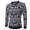 Mens Christmas Sweater Deer Printed Sweater For Men Pullovers Oversized Sweaters Knitted Cardigan For Winter Extra Image 2