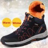 Mens Winter Boots Man High Quality Sneaker Mens Ankle Leather Boot Men Male Shoes Warm Fur Classic Casual Snow Boot Extra Image 3