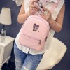 New 2018 Fashion Backpack Genuine Pu Leather Women Mini Shoulder Bag Cute Rabbit Ear Rivet Small Backpack For Girls Extra Image 2