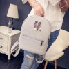 New 2018 Fashion Backpack Genuine Pu Leather Women Mini Shoulder Bag Cute Rabbit Ear Rivet Small Backpack For Girls Extra Image 4