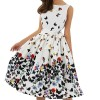 New 2018 Summer Dress For Women Butterfly Sleeveless Casual Dress Vintage Printed Plus Size Mini Dress