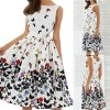 New 2018 Summer Dress For Women Butterfly Sleeveless Casual Dress Vintage Printed Plus Size Mini Dress Extra Image 3