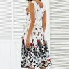 New 2018 Summer Dress For Women Butterfly Sleeveless Casual Dress Vintage Printed Plus Size Mini Dress Extra Image 5