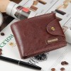 New 2019 Genuine Leather Brand Men Wallets Design Short Small Wallets Male Mens Purses Card Holder Purse Extra Image 4