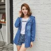 New Arrival Korean Hooded Denim Jacket Women Casual Adjustable Waist Jeans Coat Ladies Thin Denim Coats Extra Image 2