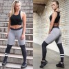 New Autumn Winter Gray Black Ring Stitching Breathable Slim Leggings Patchwork Fitness Female  Leggings For Ladies Extra Image 3