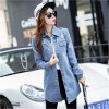 New Brand Women Fashion Jeans Jacket Vintage Plus Size Autumn Casual Long Sleeve Hole Stretch Long Denim Jacket Coat Extra Image 4