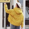 New Fashion Winter Jacket Women Cotton Padded Hooded Female Coat Parka Oversize Outerwear Winter Outfit Extra Image 4