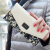 New Fashion Women Envelope Wallet Three Fold Floral Print Pu Leather Long Wallet Clutch Women Thumbnail