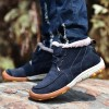 New Roman Winter Fur Warm Snow Boots for Men Sneakers Male Top Suede Leather Casual Shoes Ankle Boots Extra Image 3
